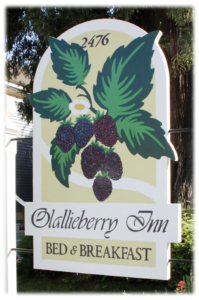Olalliberry Inn Sign
